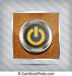 orange power button icon