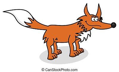 orange, profil, fuchs
