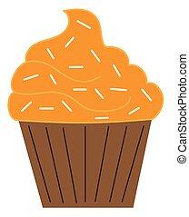 Orange Pumpkin Cupcake