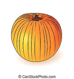Orange pumpkin icon.