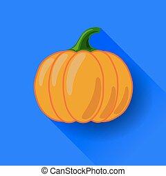 Orange Pumpkin Icon Isolated