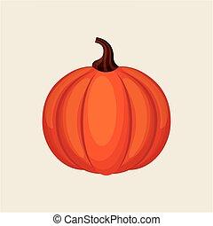 Orange pumpkin icon
