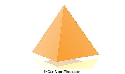 Orange pyramide