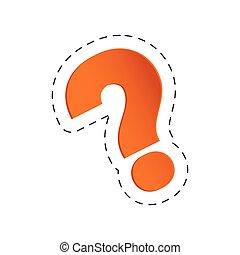 orange question mark image vector illustration eps 10