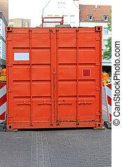 orange, récipient cargaison