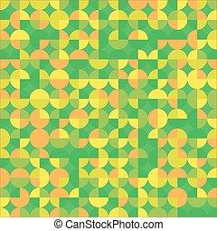 orange, résumé, arrière-plan vert