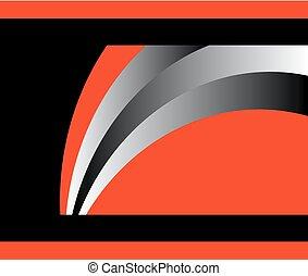 orange, résumé, aviateur, fond