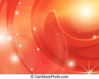 orange, résumé, clair, fond