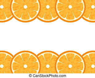 orange, résumé, couper, frontière