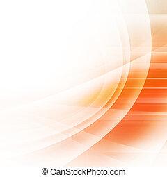 orange, résumé, courbes, fond