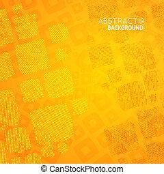 orange, résumé, cubes, mosaïque, fond