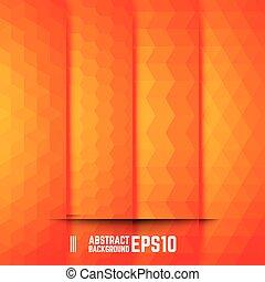 orange, résumé, ensemble, arrière-plans