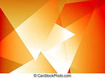 orange, résumé, fond