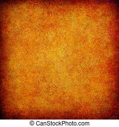 orange, résumé, grunge, fond, textured