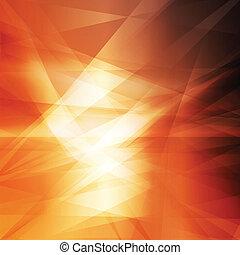 orange, résumé, jaune, fond