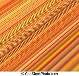 orange, résumé, jaune, rayé, fond