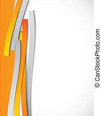 orange, résumé, lignes, fond