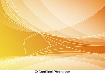 orange, résumé, papier peint, fond