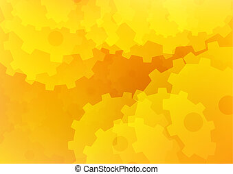 orange, résumé, papier peint, fond, jaune