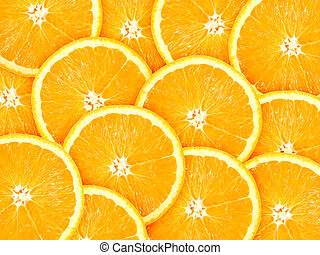 orange, résumé, tranches, fond, citrus-fruit