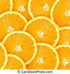 orange, résumé, tranches, fond, citrus-fruit