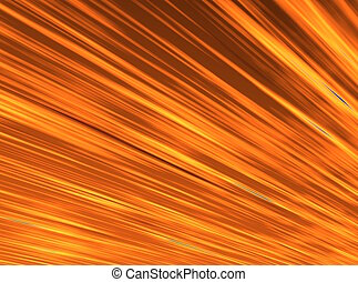 An illustration of an orange, radiant sky.