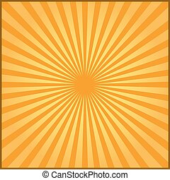 Orange rays of vector carnival background. Vector illustration