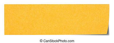 Orange rectangular sticky note