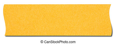 Orange rectangular sticky note