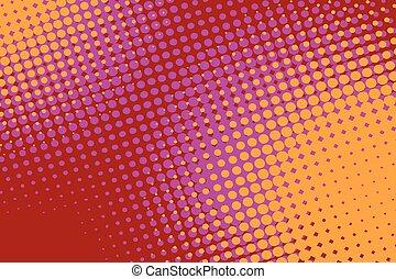 Orange red pop art retro vintage background