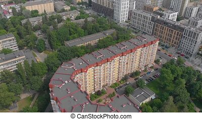 Orange Residential Building Cityscape