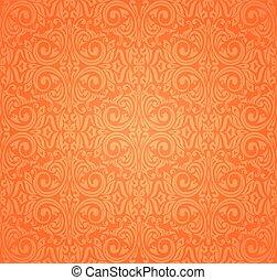 Orange Retro colorful wallpaper background