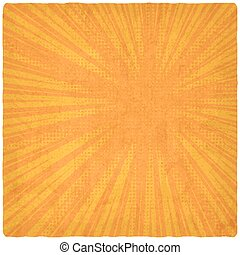 orange retro comic book background. vector illustration -...