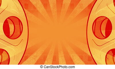 Orange Retro Film Rolls Loop