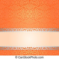 Orange Retro wallpaper background with copy space