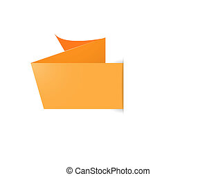 orange ribbon style label