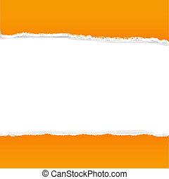 Orange Rip Paper