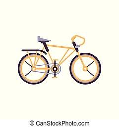 Orange road bike, modern bicycle vector Illustration