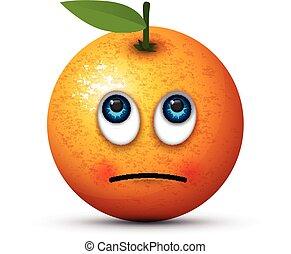 orange rolling eyes emoji
