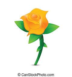 orange rose illustration design