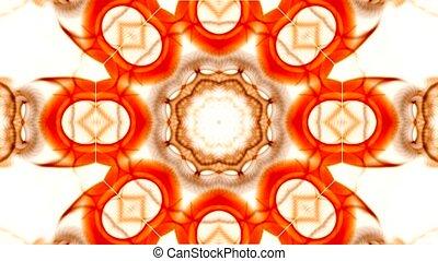 orange rotation flower pattern