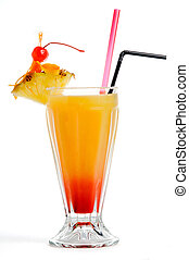 orange, rouges, cocktail