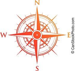 orange, rouges, compas