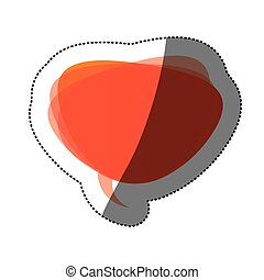 orange round chat bubble icon