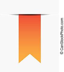 orange, ruban blanc