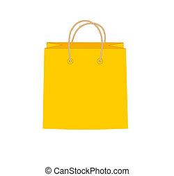 orange, sac, achats