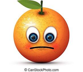 orange sad emoji