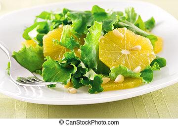 orange, salat