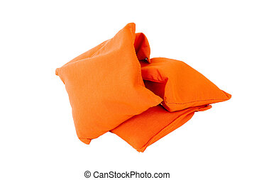 Orange Sandbags - Used for the bags game played in colleged...
