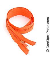 orange, schließen, reißverschluss, auf